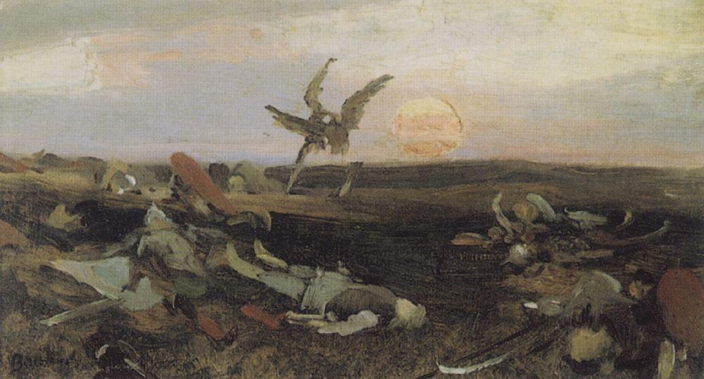 VIKTOR vasnecov-battaglia tra gli sciti e gli slavi stampa 61x91.5cm